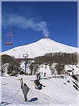 Skiing and Snowbording on Villarrica Vulcano